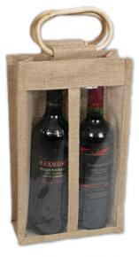 Jute Bag - 2 Wine Bottles