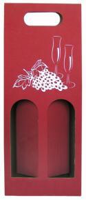 Red Paper Wine Bag - 2 Bottles