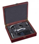 Lever Corkscrew in Wooden Box Deluxe Edition