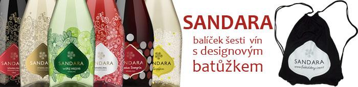 Balíček šesti lahví Sandara s designovým batůžkem